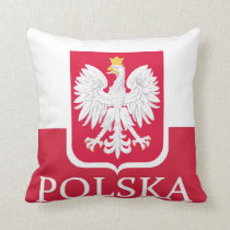 Polska Polish Coat of Arms American MoJo Pillow