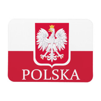 Polska Polish Flag Coat of Arms  Flex Magnet