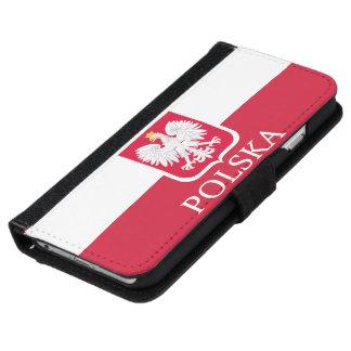 Polska Polish White Eagle Flag Wallet Phone Case For iPhone 6/6s