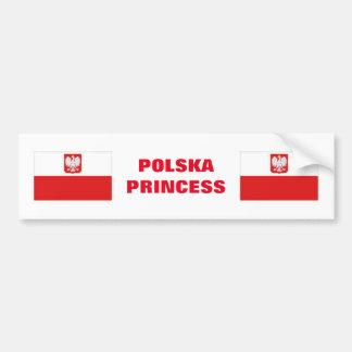POLSKA PRINCESS CAR BUMPER STICKER