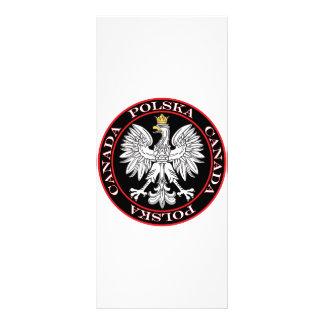 Polska redondo Canadá Eagle Tarjeta Publicitaria A Todo Color