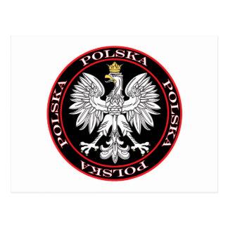 Polska redondo Eagle Tarjeta Postal