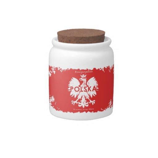 Polska Republic of Poland Candy Jar