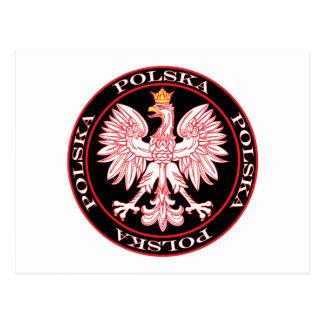 Polska rojo redondo Eagle Tarjeta Postal