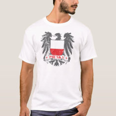 Polska Shield T-shirt at Zazzle