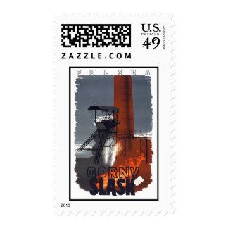 Polska Slask Vintage Travel Postage Stamps