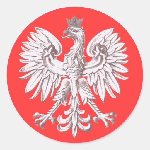Polska Round Stickers