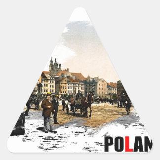 Polska - Warszawa 1980-1900 Triangle Sticker