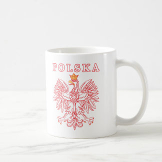 Polska With Red Polish Eagle Coffee Mug