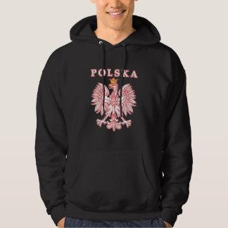 Polska With Red Polish Eagle Hoodie