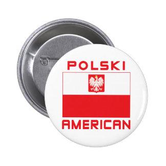 Polski American Flag Pinback Button