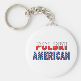 Polski American Flag Keychain