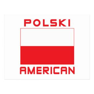 Polski American Flag Postcard