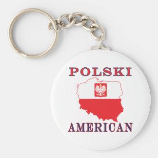 Polski American Map Keychain