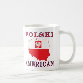 Polski American Map Coffee Mugs