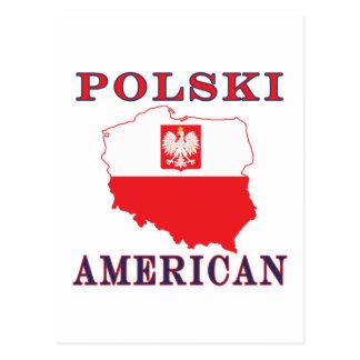 Polski American Map Postcard
