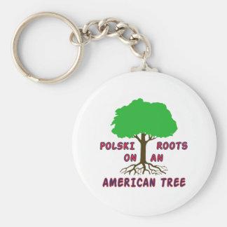 Polski American Roots Keychain