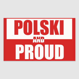 Polski and Proud Rectangular Sticker