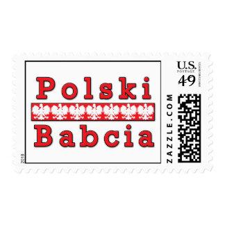 Polski Babcia Eagles Postage