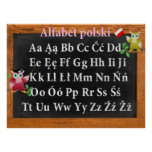 Polski lindo de profesor Owl Polish Alphabet Alfab Posters