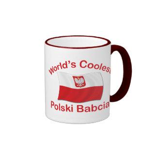 Polski más fresco Babcia Taza De Dos Colores
