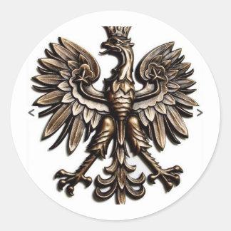 Polski orzelek classic round sticker