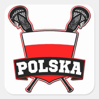 Polski Poland Lacrosse Square Sticker