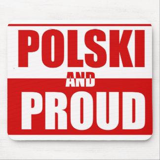 Polski y orgulloso alfombrilla de raton