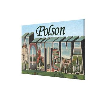 Polson, Montana Lienzo Envuelto Para Galerías