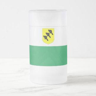 Põlva Flag Frosted Glass Beer Mug
