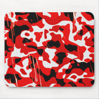 Polvillo radiactivo rojo Camo (diseño de AOM) Alfombrilla De Ratón