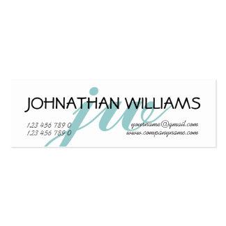 Polvo azul profesional con monograma tarjeta de visita