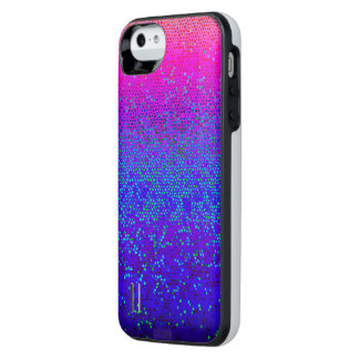 polvo de estrella del brillo de la caja de batería funda power gallery™ para iPhone 5 de uncommon