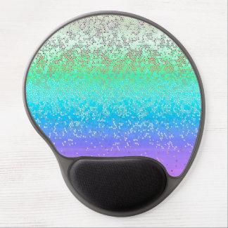 Polvo de estrella del brillo de Mousepad del gel Alfombrilla De Ratón Con Gel