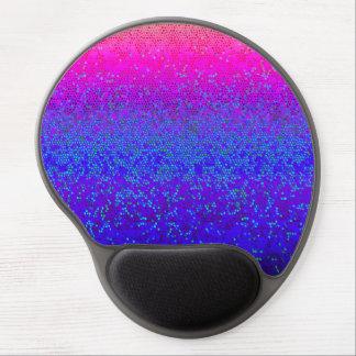 Polvo de estrella del brillo de Mousepad del gel Alfombrillas De Ratón Con Gel