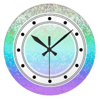Polvo de estrella del brillo del reloj de pared