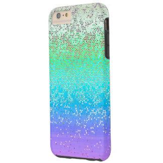 polvo de estrella duro del brillo del caso más del funda para iPhone 6 plus tough