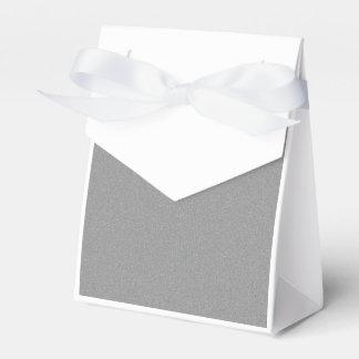 Polvo de estrella gris cajas para detalles de boda