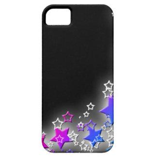 Polvo de estrella rosada y azul iPhone 5 cárcasa