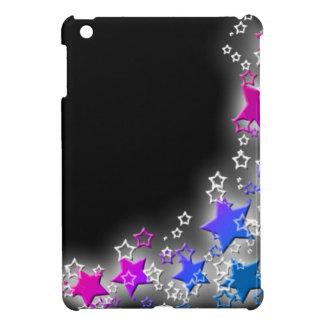 Polvo de estrella rosada y azul iPad mini fundas