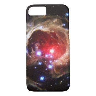 Polvo de estrella supergigante rojo de rubíes funda iPhone 7