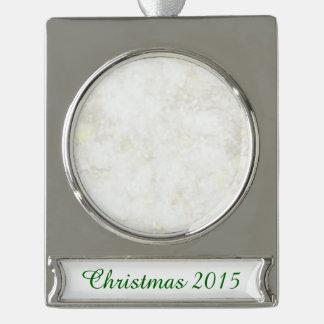 Polvo de hadas blanco veraniego adornos navideños plateados