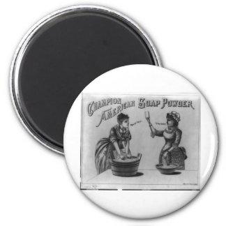 Polvo de jabón americano del campeón 1887 imán
