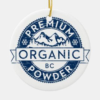 Polvo orgánico superior de la Columbia Británica Adorno Redondo De Cerámica