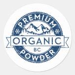 Polvo orgánico superior de la Columbia Británica Pegatina