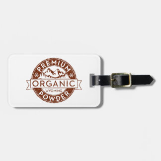 Polvo orgánico superior de Wyoming Etiqueta Para Equipaje
