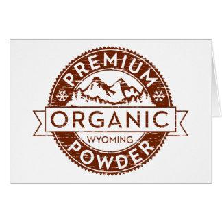 Polvo orgánico superior de Wyoming Tarjeta De Felicitación