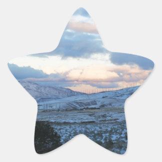 Polvoreda de la madrugada pegatina en forma de estrella
