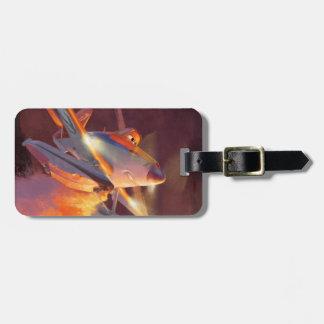 Polvoriento - departamento máximo del fuego del etiquetas de equipaje