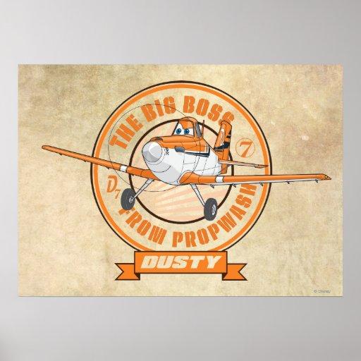 Polvoriento - el gran jefe de Propwash Póster